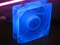 Back of the fan with UV light