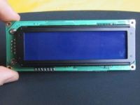 The CrystalFontz LCD screen