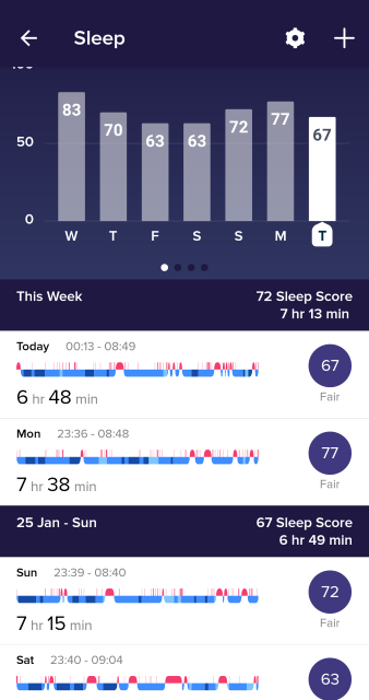 Fitbit app sleep tracking