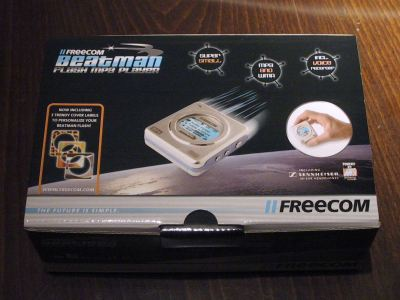 The box of this MP3 player from Freecom