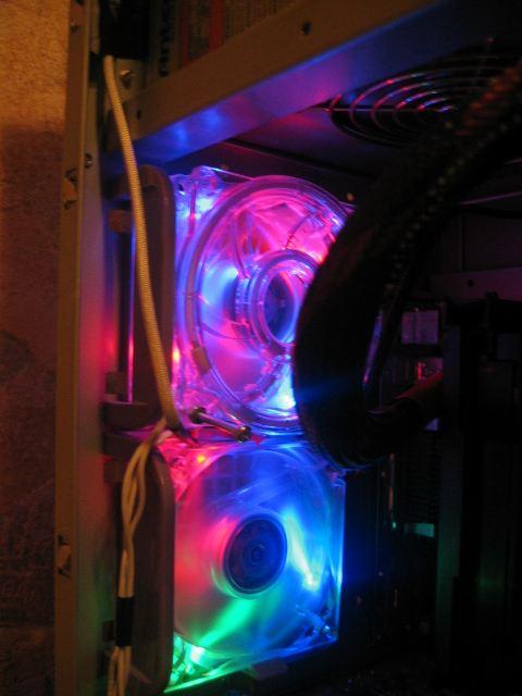 CCFL FAN GRILL 80MM UV Green FAN W// UV Cold Cathde
