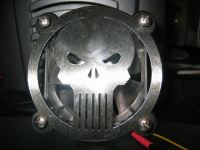 Punisher grill on a fan