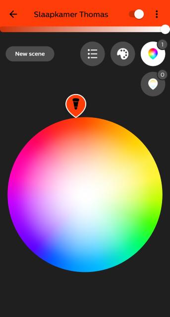 Philips Hue bulb color options