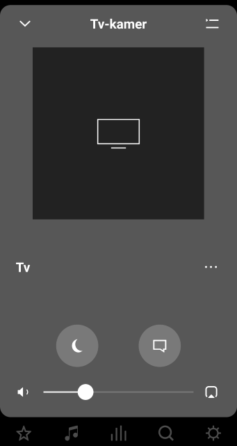 Sonos app TV controls